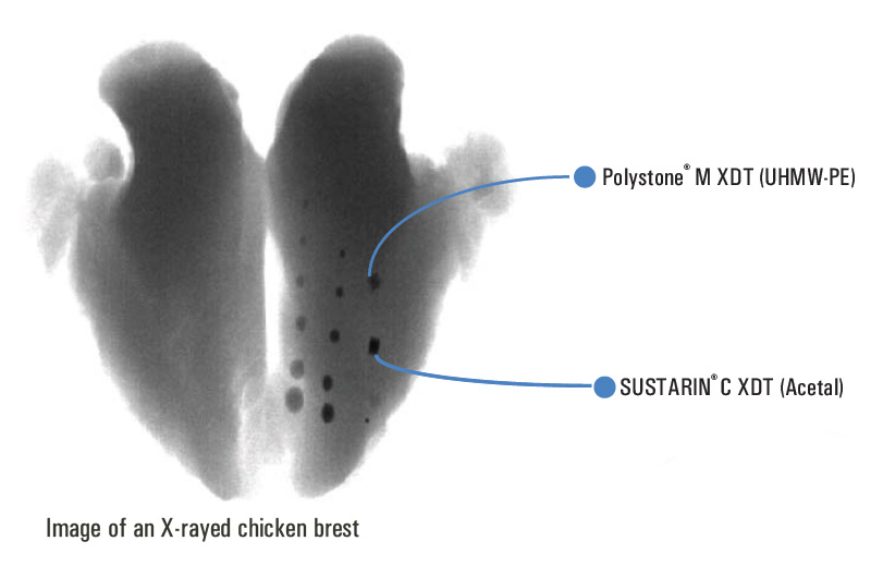 Image of an X-rayed chicken breast