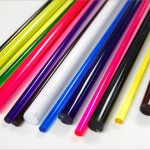 Colored Extruded Acrylic Rod