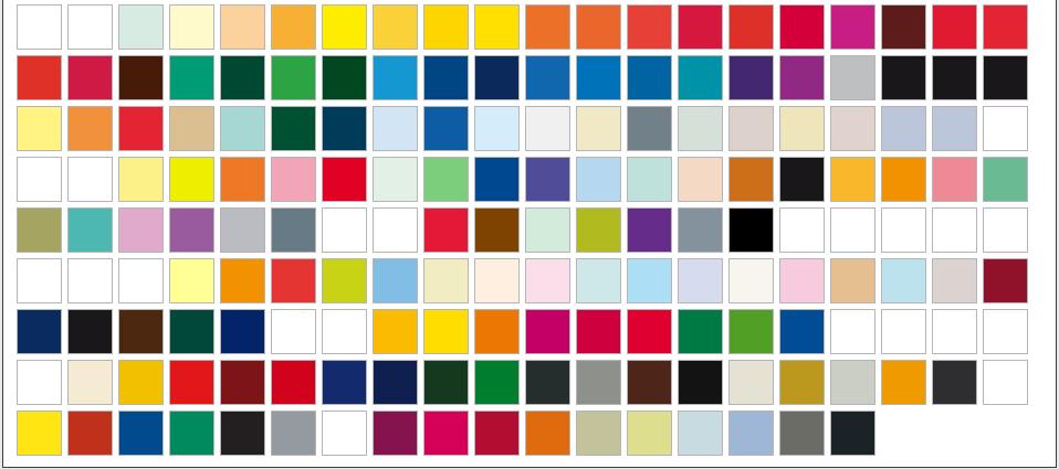 Perspex Colors | Emco Industrial Plastics